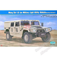 Plastic Assembly Model Armored Car 1:35 China Meng Shi 1.5 Ton MLUV-Hard Top Version A Military Off-road Vehicle 82468