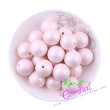 Free Shipping 110pcs/lot,20mm,Chunky Light Pink Color Matte Pearl Bead ABS Pearl Pearly For Decoration CDWB-517827
