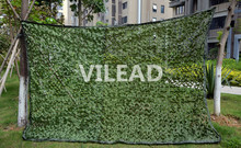 VILEAD 2.5M*3M Jungle Camo Netting Green Digital Camouflage Netting  Outdoor Sun Shelter Sniper Theme Party Decoration Paintball