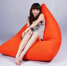 Cover only  No Filler - Orange outdoor bean bag furniture sofa seat - great cushion Benificail for your neck pillows
