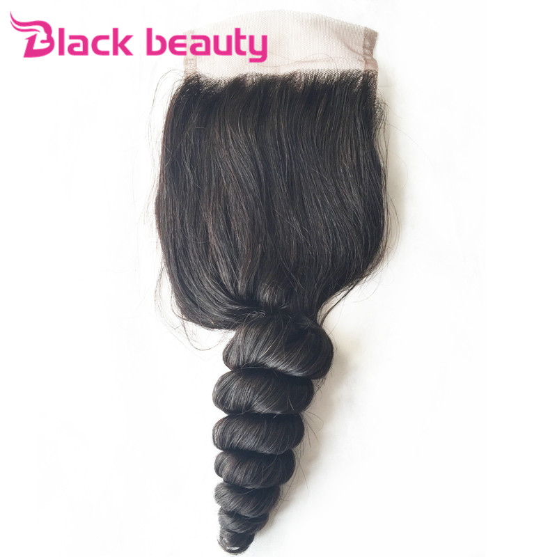 7A Cheap Peruvian Loose Wave Closure 3.5x4 Peruvian Lace Closure Unprocessed Human Hair Loose Wave Lace closure Bleached knots<br><br>Aliexpress
