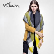 [VIANOSI] high quality plaid scarf women Thicken Soft Winter scarf Fashion Shawls and Scarves DS033(China)