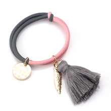 M MISM Metal Feather Tassel Decoration Gum for for Hair Women Hair Accessories scrunchy Elastic Hair Band Good Quality Headband(China)