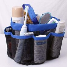 8 Pocket Shower Caddy Mesh Portable Quick Dry Travel Tote Carry Handle Gym Bathroom Stuff Organizer Camping Travel Dorm