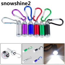 snowshine2#3522 bike light 1W Mini Pocket LED Flashlight Telescopic Zoom Carry Carabiner free shipping wholesale dd