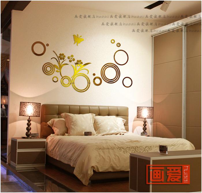 espejo de acrlico en tres dimensiones pegatinas de pared de bao decoracin espejo decoracin de la