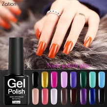 Zation 8ML Varied Lucky Star Colors Gel Nail Polish UV LED Hybrid Lacquer Top Base Coat Clear Gel Nail Polish(China)