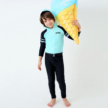 2017 New Children Swimwear Boy's Swimsuits Long Sleeves Bathing Suits Kids Beachwear Child Swim Wear with Hoodie S XXL XXXL