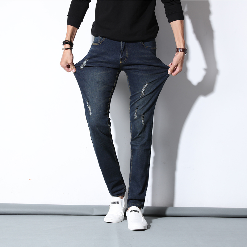 2017 Four Seasons New Teen Slim stretch pants feet pencil denim trousers influx of men(asian size)Одежда и ак�е��уары<br><br><br>Aliexpress
