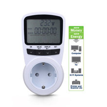 New EU Plug Socket Energy Meter Electricity Watt Voltage Amps Usage Frequency Monitor Analyzer Power Manage