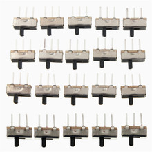 20pcs SS12D00G3 2 Position SPDT 1P2T 3 Pin PCB Panel Mini Vertical Slide Switch Favorable Price
