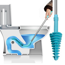 Useful Long-handled Toilet Piston Type Device Household Toilet Sewer Pipe Clogging Clearer Tools