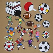 1 pcs footballs soccer balls embroidered iron on patches cloth accessories popular clothing bag hat Patches Appliques repair