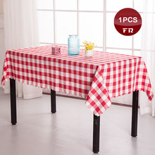 Free Shipping 1PC Home Dining Table Cloth Polyester Classic Plaid Tablecloth Linen of Wedding Party Hotel Restaurant Dinner
