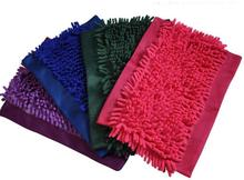 FREE SHIPPING! Flat Mop Head Chenille Refill Replace Microfibre Fabric Replacement Cloth Easy Washing(China)