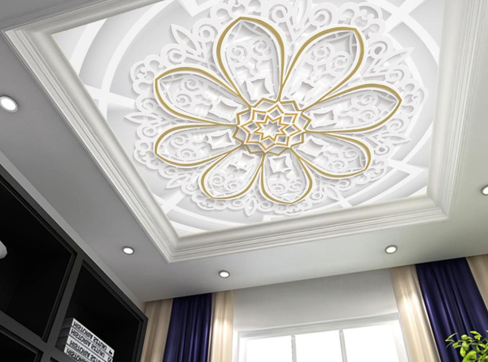 Simple Ceiling Murals Wallpaper Custom European Style papel de parede 3d Ceiling Nonwovens Background Wall<br>