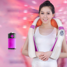 JinKaiRui Electronic Back Neck Car/Office/Home Massager with Heating Rechargeable Massage Massages Pain Relief Body Spa Machine(China)
