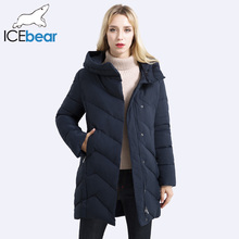 ICEbear 2017 Women's coat High-quality Mid-lenghth Thickening windproof Women's Parkas Bio-Down Jacket Parkas 17G6136(China)