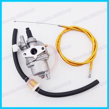 Carb Carburetor Fuel Filter Gold Gas Throttle Cable For Dirt Pocket Bike 47cc 49cc Mini Moto Atv Scooter Motorcycle(China)