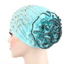 11 Colors Women Headwear Lace Hot Drilling Headwrap African Head wrap Twist Hair Band Turban Bandana Bandage Hijab Accessories