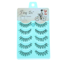 5 Pairs New Women Lady Natural Soft Black Fake Eye Lashes Handmade Thick Fake False Eyelashes Makeup Tools(China)