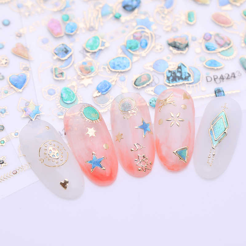 Detail Feedback Questions about Gold 3D Nail Art Stickers Decals Crystal  Gems Jewels Rhinestones Nail Transfer Stickers DIY Manicure Decoration  Supplies on ... 0b313ba422c7