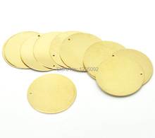 "30Pcs Free shipping Hot New DIY Brass Metal Stamping Blanks Tags Round Pendants Charms Jewelry Making Component 28mm(1-1/8"")N15"