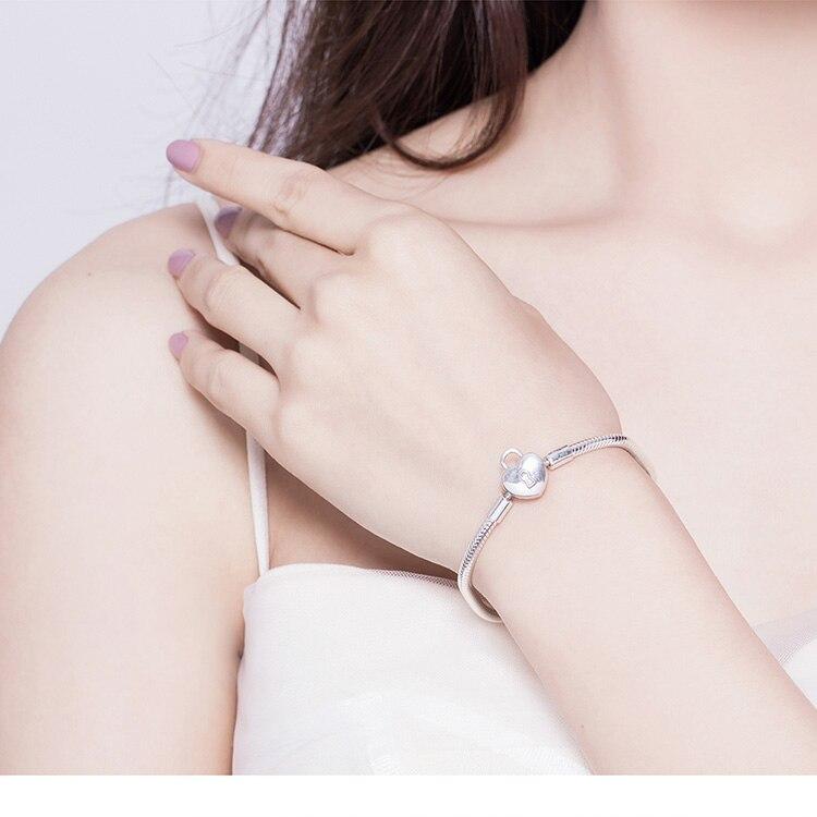 bracelet charm cadenas scintillant tendance glamour