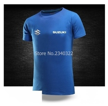 Suzuki summer men's short-sleeved T-shirt car 4S shop tooling DIY logo fashion T shirt(China)