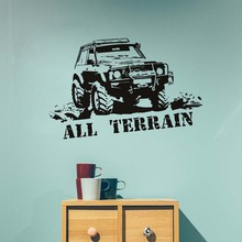 All Terrain Mountain Truck Wall Sticker Wall Art Quote Vinyl Decal Vinilos Paredes Home Interior Wall Decor