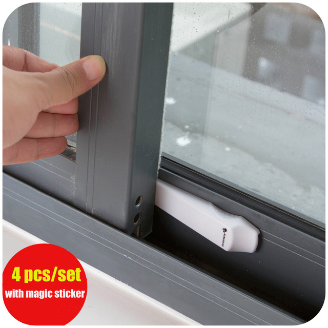 4pcs Set Protecting Baby Safety Security Lock Adhesive Sliding Door Child Window Children