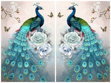 5D DIY Diamond Painting Peacock Diamond Mosaic Needlework Diamond Embroidery Pattern Home Decor Hobbies and Crafts gift(China)