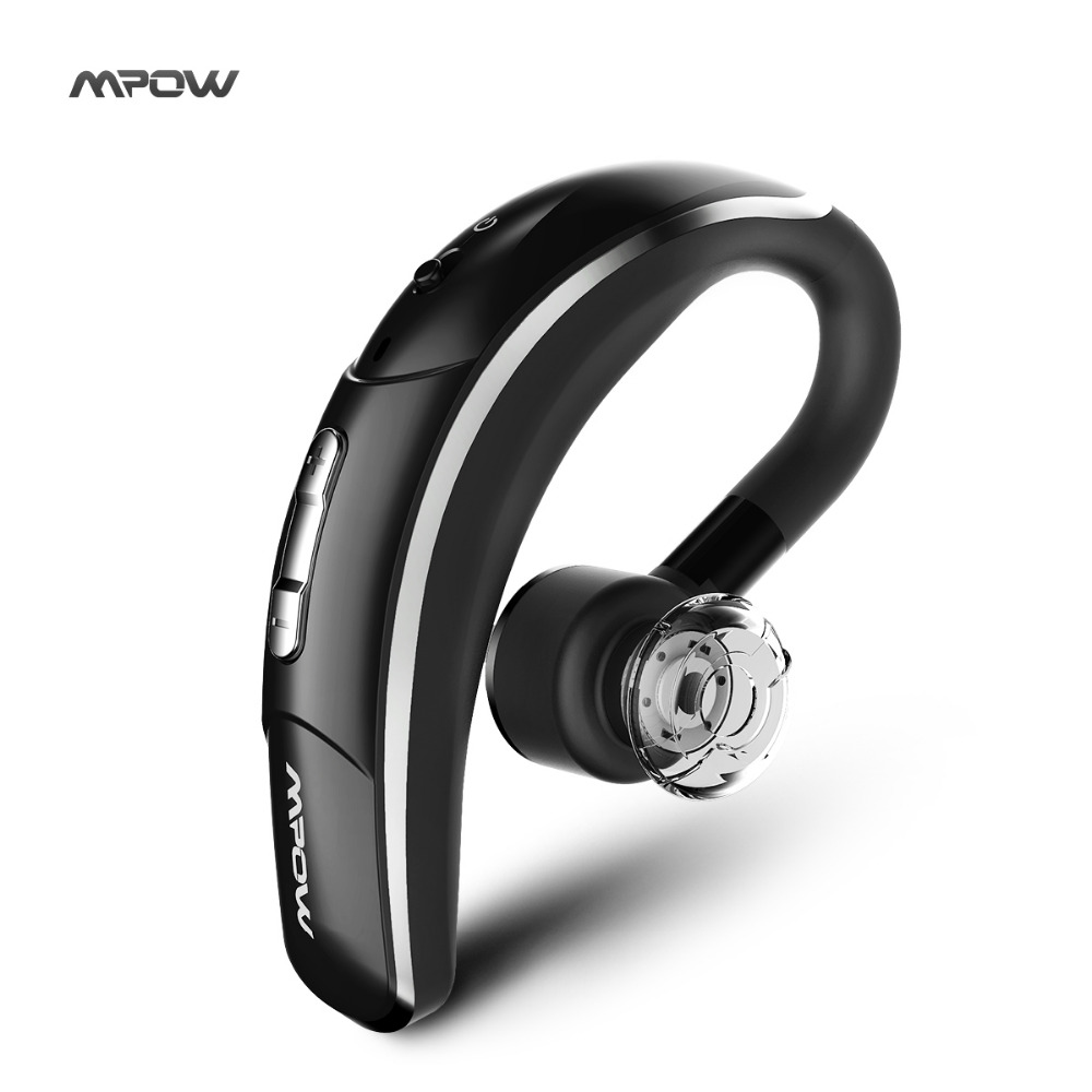 New Mpow Wireless Bluetooth 4.1 Headset Headphones with CSR chip Clear Voice Capture Tech microphone handsfree single ear phone(China)