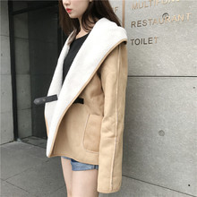 New Brief Street Snap Deerskin Small Blouse Shirt 6237(China)