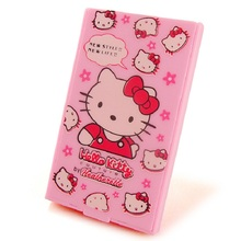 Hello Kitty Portable Mirror And Comb Fashion Cute Hello Kitty Portable Combined Makeup Mirror(China)