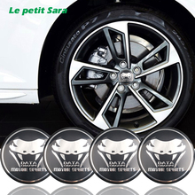 4x Snake Motor sports Car Steering tire Wheel Center car sticker Hub Cap Emblem Badge Decals For M Sports BMW Ford Mustang Audi(China)