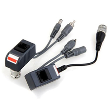 New Hot  2Coax CCTV video Audio Power Balun Transceiver CAT5 cable BNC RJ45 camera dvr