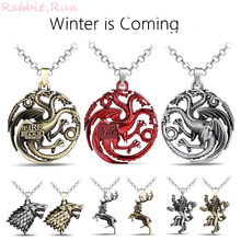 Game of Thrones Stark Necklace, House Targaryen,Tully,Lannister,Arryn,Baratheon Pendent Necklace