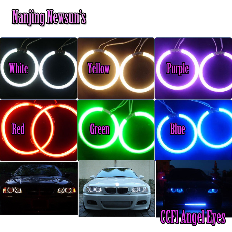 Various sizes Super Bright Ccfl Angel Eyes Kit Universal fit Halo Ring Car motorcycle Headlight with 2 Angel Rings &amp; 1 Interver<br><br>Aliexpress