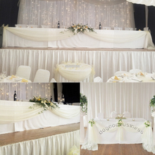 Ivory 10M*1.35M Sheer Organza Swag  Fabric wedding backdrop curtain For Flower/Weeding/Deraction