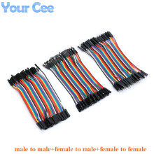 120pcs 40P 10cm male to male, female to male, and female to female dupont cable connector breadboard jumper wires