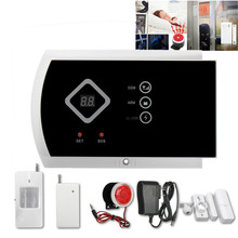 110dB Wireless LCD GSM Intelligent Home Security Burglar Voice Protect House Alarm 850/1800/1900MHz Free Shipping(China)