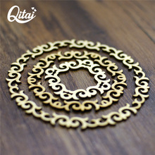 QITAI 24pcs/lot Wooden Garlands Circle Three Sizes Craft Creative Decorations Dress Up Your Home With A Surprise WF254