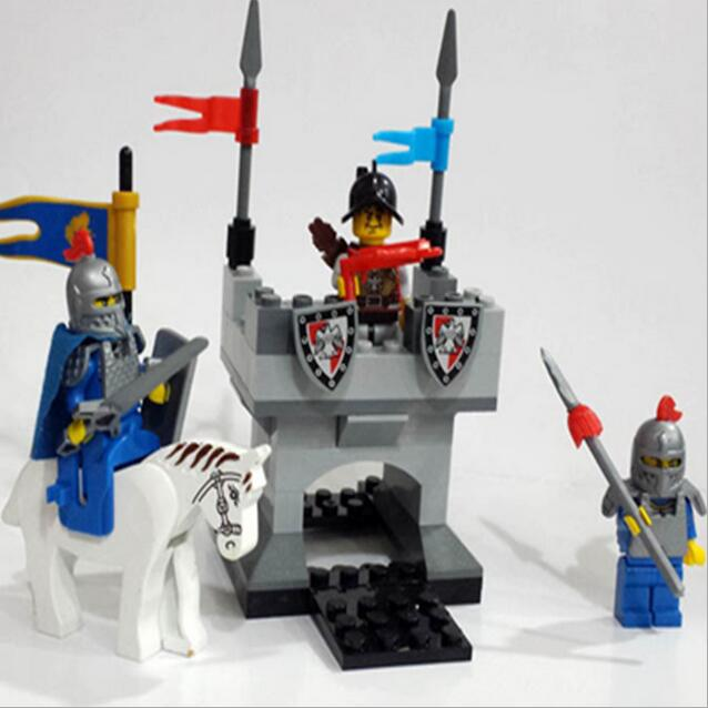 pcs Super Hero  Castle Series Knights soldier building block bricks toys with weapons / War chariot / horse <br><br>Aliexpress