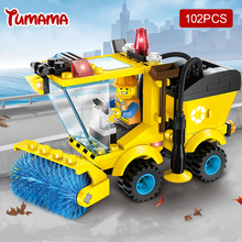 Tumama 102pcs City Road Sweeper Blocks Toys DIY Assembled Model Building Blocks Educational Toys Gifts for Children Kids Duplo