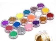 18 Colors Nail Art Glitter Powder Dust Decoration kit For Acrylic Tips UV Gel DIY Drop Shipping Wholesale(China)
