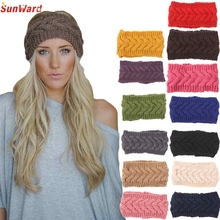 Headwear SunWard Women Knitted Headbands Winter Warm Head Wrap Wide Hair Accessories Fashion WillBeen Jan20 Drop Shipping