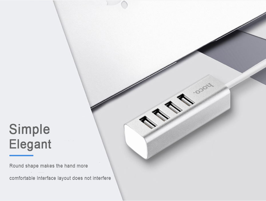 HOCO High Speed 4 Ports USB 2.0 Splitter Male to Female Standard USB2.0 Hub Resolver for Car Computer Laptop HDD Flash Device