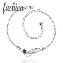 silver plated Anklet,New Design Fashion silver-plated jewelry,Delicate Handmade Cheap Anklets for gift SMTA036-D