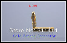 10pairs/lot 4.0mm 4mm Gold Bullet Banana Connectors Plug For RC Battery ESC Brushless Motor High Quality Retail Drop ship(China)
